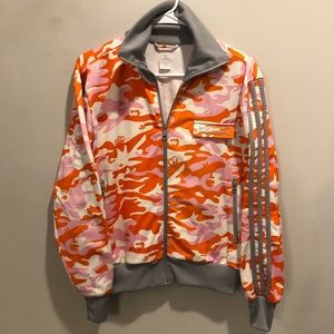 Adidas floral print camouflage bomber jacket crown